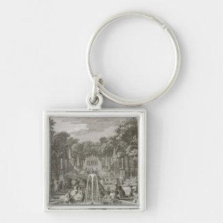 L'Arc de Triomphe, Versailles (engraving) Keychain
