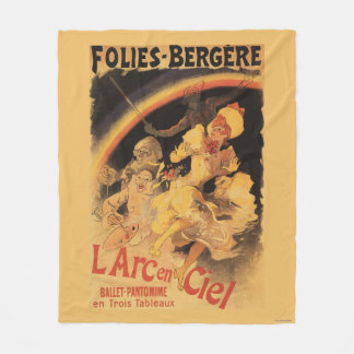 L'Arc-en-Ciel Ballet at Folies-Bergere Fleece Blanket