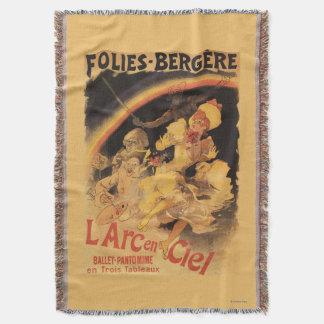 L'Arc-en-Ciel Ballet at Folies-Bergere Throw Blanket