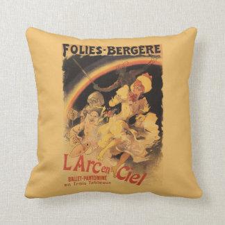 L'Arc-en-Ciel Ballet at Folies-Bergere Throw Pillow