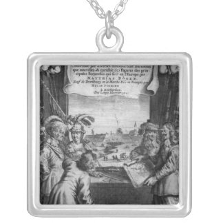 L'Architecture Militaire Moderne Silver Plated Necklace