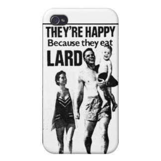 Lard Advertisement iPhone Case iPhone 4/4S Covers