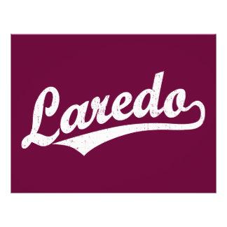 Laredo script logo in white distressed 21.5 cm x 28 cm flyer