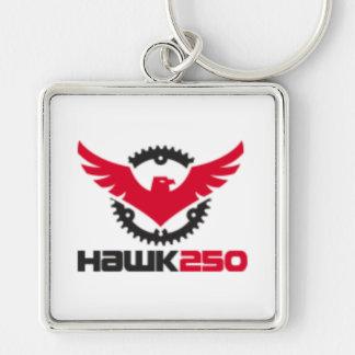 "Large (2.00"") Premium Square Hawk 250 Key-chain Key Ring"