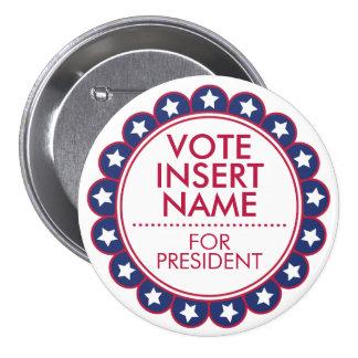 """Large 3"""" Button Vote Election Political Campaign"""