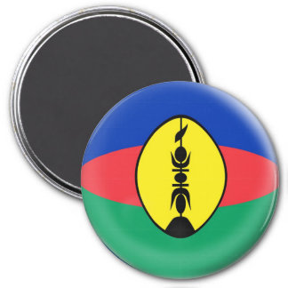 Large 3 inch magnet - New Caledonia flag