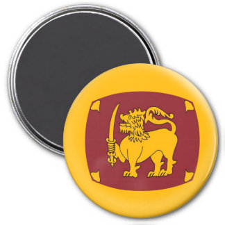 Large 3 inch magnet - Sri Langka flag