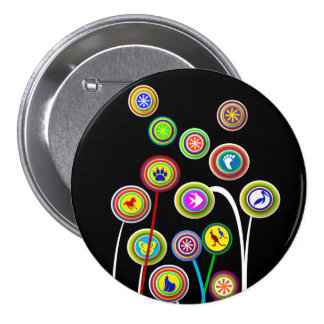 Large 3 Inch Round Button