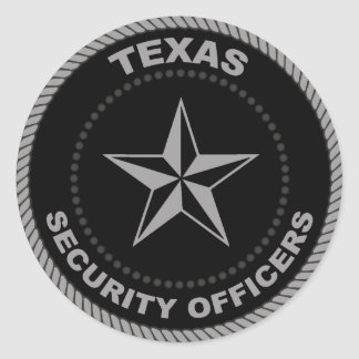 Large 3in. Sticker of Texas Security Officers seal