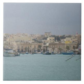 "Large (6"" x 6"") Ceramic Photo Tile. Malta. Tile"