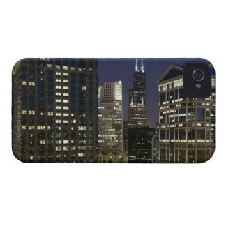 Large aerial view of downtown Chicago at dusk. Case-Mate iPhone 4 Case