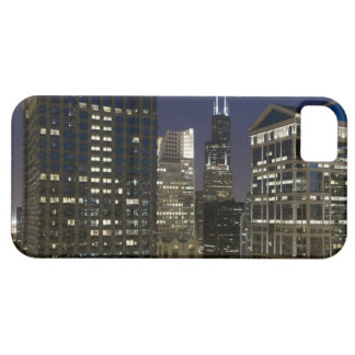 Large aerial view of downtown Chicago at dusk. iPhone 5 Cover