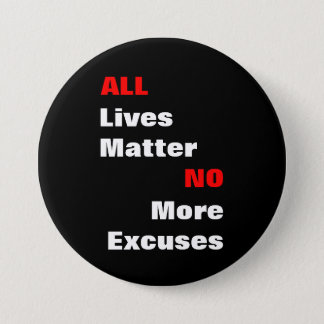 "Large ""All Lives Matter"" Black Button"