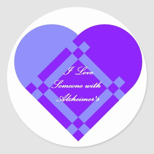 Large Alzheimer's Sticker