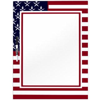 LARGE AMERICAN FLAG PATRIOTIC DRY ERASE BOARD