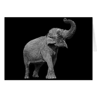 LARGE ASIAN ELEPHANT - INDIAN ELEPHANT CARD