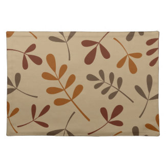 Large Assorted Fall Leaves Design Placemat