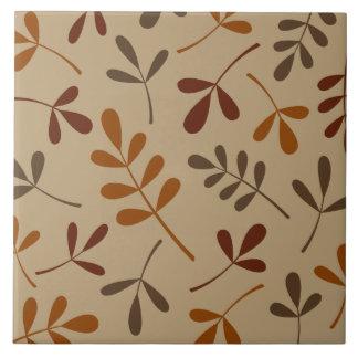 Large Assorted Fall Leaves Design Tile