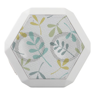 Large Assorted Leaves Color Mix on White White Bluetooth Speaker
