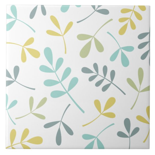 Large Assorted Leaves Colour Mix on White Tile