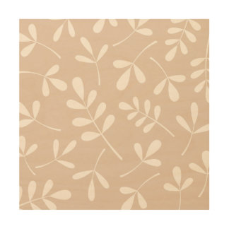 Large Assorted Leaves Lt on Dk Cream Wood Wall Decor