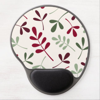 Large Assorted Leaves Reds & Greens on Cream Gel Mouse Pad