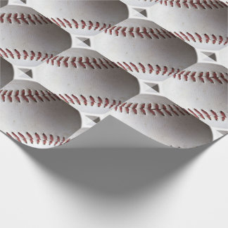 Large Baseball Pattern Wrapping Paper