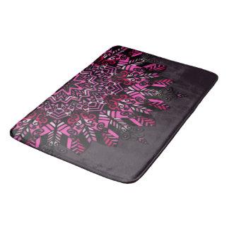 Large Bath Mat Pink Mandala Design
