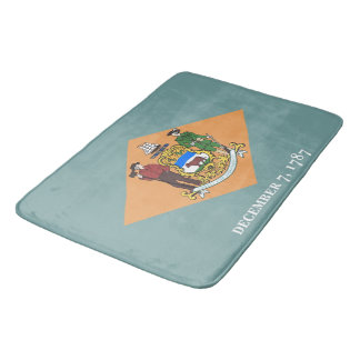 Large bath mat with flag of Delaware, USA