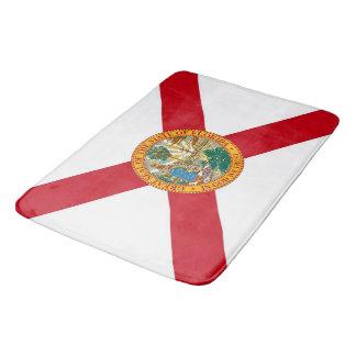 Large bath mat with flag of Florida, USA