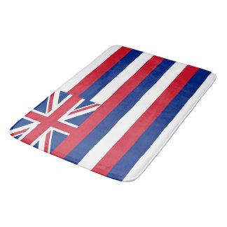 Large bath mat with flag of Hawaii, USA