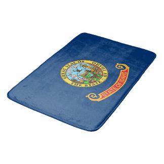 Large bath mat with flag of Idaho, USA