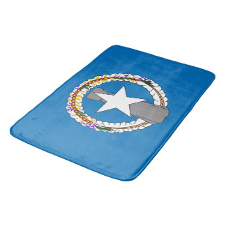 Large bath mat with flag of Mariana Islands, USA