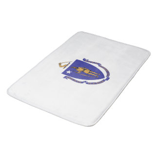 Large bath mat with flag of Massachusetts, USA