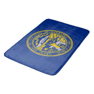 Large bath mat with flag of Nebraska, USA