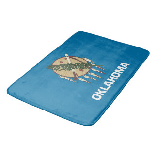 Large bath mat with flag of Oklahoma State, USA