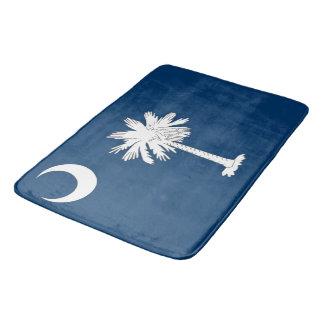 Large bath mat with flag of South Carolina, USA