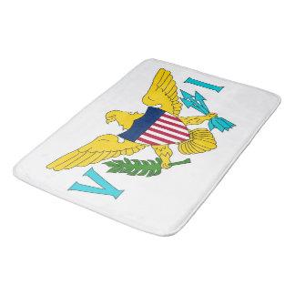 Large bath mat with flag of Virgin Islands, USA