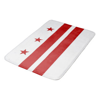 Large bath mat with flag of Washington DC, USA