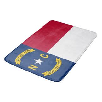 Large bath mat with flag ofNorth Carolina, USA
