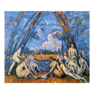 Large Bathers 2 by Paul Cezanne Poster
