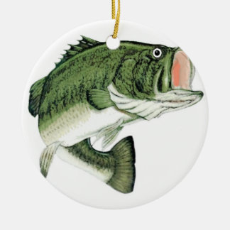 Large Big Mouth Bass Christmas Ornament