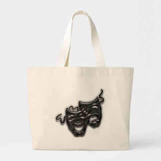 Large Black Masks Tote Bag
