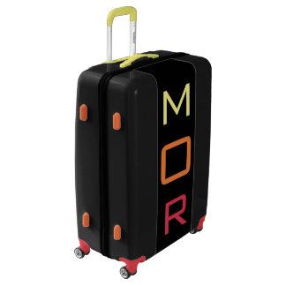LARGE Black+Yellow+Orange+Red Monogrammed Luggage
