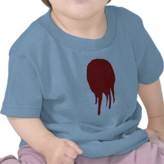 Large blood splatter tee shirt