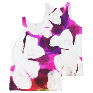 Large Bloom All-Over Print Tank Top