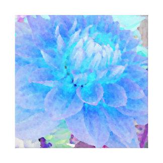 Large Blue Dahlia Canvas Prints