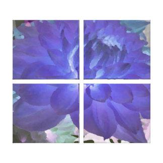 Large Blue Dahlia Gallery Wrap Canvas