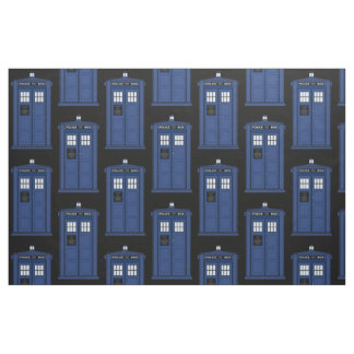 Large Blue Police Box Fabric Cosplay Time Geek