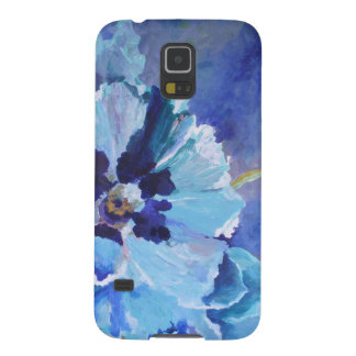 Large Blue Poppies Cases For Galaxy S5